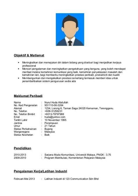 format cv contoh contoh resume format pdf hafiz pinterest resume format