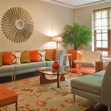 Green And Orange Living Room Decor by Orange Living Rooms Living Room Designs And Orange On