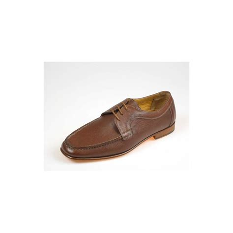 Cevany Mocassin Rajut Leather Brown 39 43 small or large mocassin with laces ghigocalzature