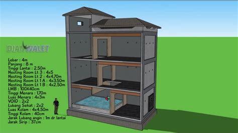 desain rumah walet minimalis model zigzag  perhitungan
