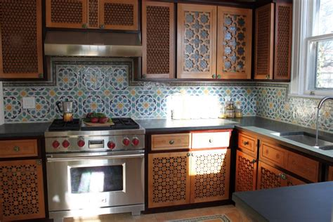 Moroccan Kitchen by Moroccan Kitchen With Beautiful Carved Wood Cabinets