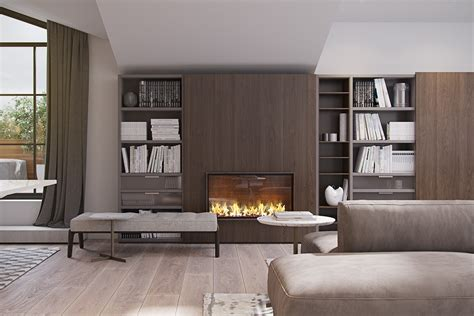 moderne feuerstelle 3 modern homes with amazing fireplaces and creative lighting