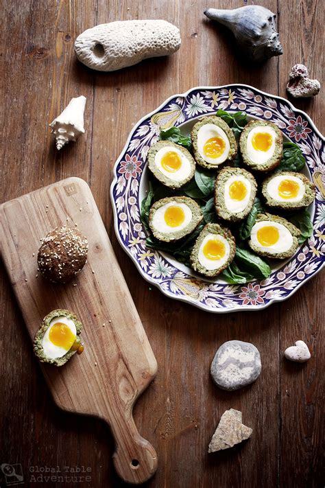 Handmade Scotch Egg - falafel scotch eggs snacking with selkies global table