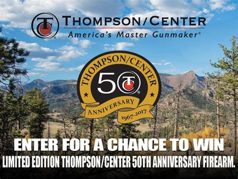 Anniversary Sweepstakes - thompson center arms 50th anniversary sweepstakes armsvault