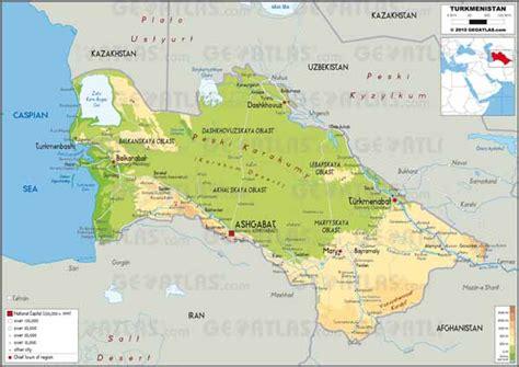 turkmenistan physical map ashgabat earthquake 1948 earthquakes