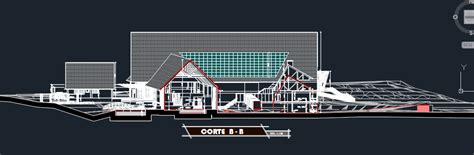 tourist complex section  dwg design plan  autocad