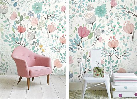 Where To Start Wallpapering In A Room by Snooping On Etsy Wallpaper For The Nursery Jest Cafe