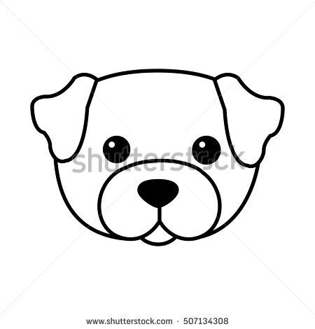Drawn face puppy - Pencil and in color drawn face puppy Easy Dog Face Drawing