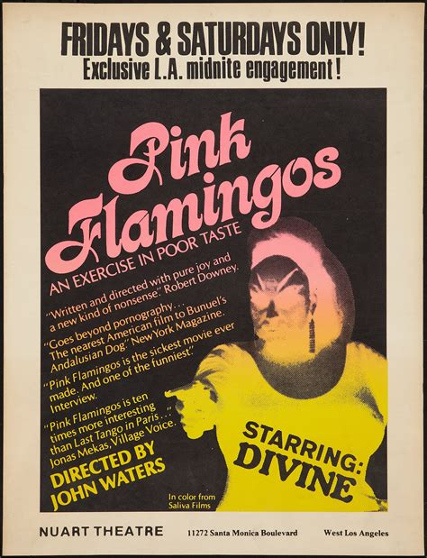 pink poster 1972 pink flamingos film 1970s the red list