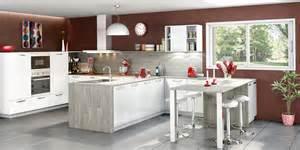 cuisine ouverte et moderne coloris blanc cuisines you