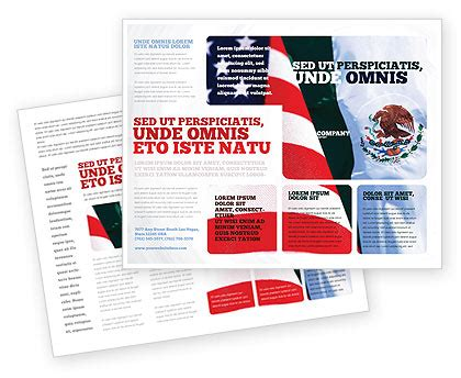 Mexico Brochure Template by Mexico And Usa Brochure Template Design And Layout