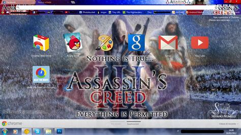 Theme Chrome Assassin S Creed | assassin s creed iii google chrome theme by sl4eva on