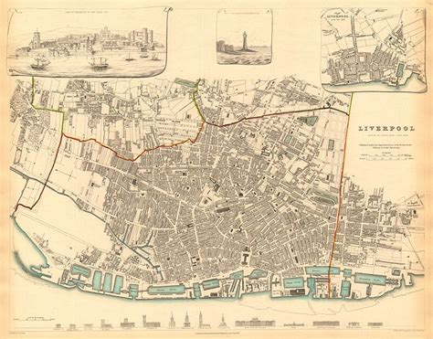 printable map liverpool city centre liverpool antique town city map inset view plan in 1729