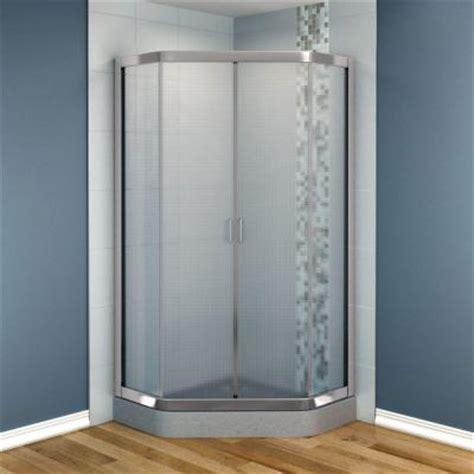 36 Glass Shower Door Maax Intuition 36 In X 36 In X 70 In Neo Angle Frameless Corner Shower Door Glass In Nickel