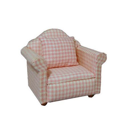Gingham Armchair by Modern Pink Gingham Pattern Armchair Furniture Df1163