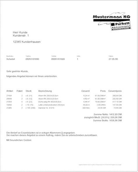 Angebot Vortext Muster Angebot Und Auftragsbest 228 Tigung Gamestar Pinboard