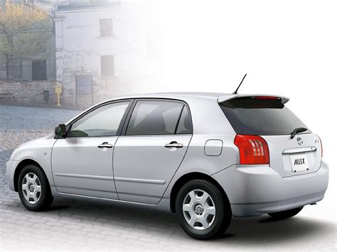 toyota cor toyota allex technical specifications and fuel economy