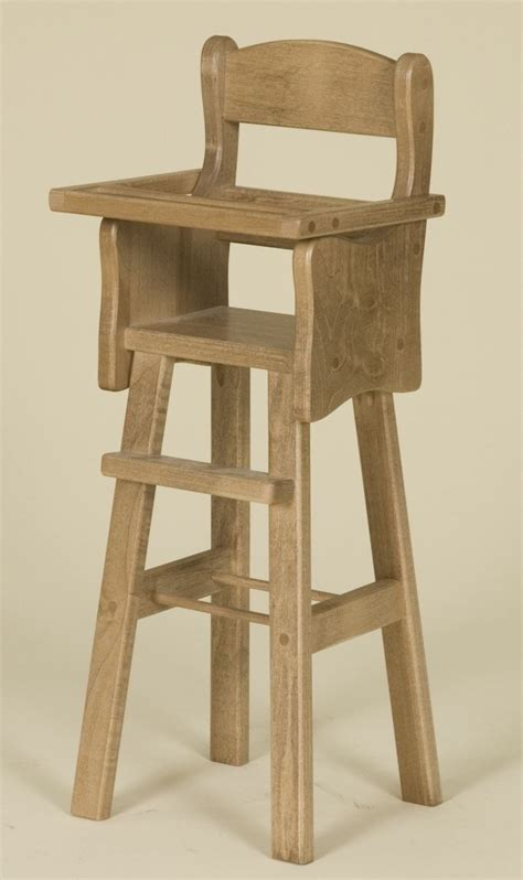 Handmade Furniture Usa - doll high chair amish made doll furniture made in usa