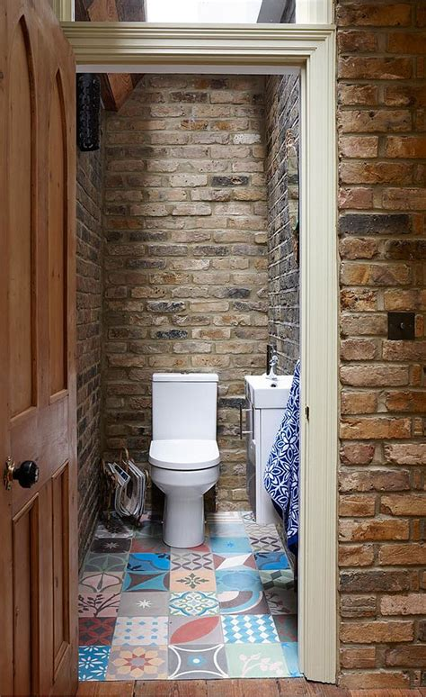rustic bathroom ideas for small bathrooms small rustic bathroom with brick walls and skylight decoist