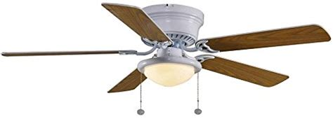 lowe s home improvement ceiling fans hton bay hugger 52 in white ceiling fan with light
