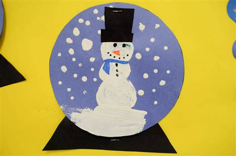 Snow Globe Paper Craft - mrs ricca s kindergarten snow globe craft