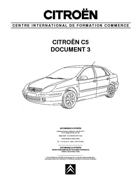 citroen c5 document 1 service manual schematics