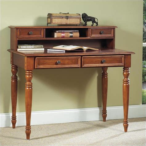 Distressed Desk With Hutch Home Styles Homestead Wood Laptop W Hutch Distressed Warm Oak Writing Desk Ebay