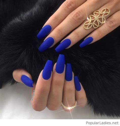 Powder Blue Paint Color by Bright Blue Long Nails