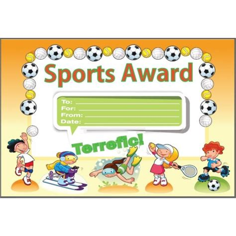 sports certificates sports award certificate awards certificates