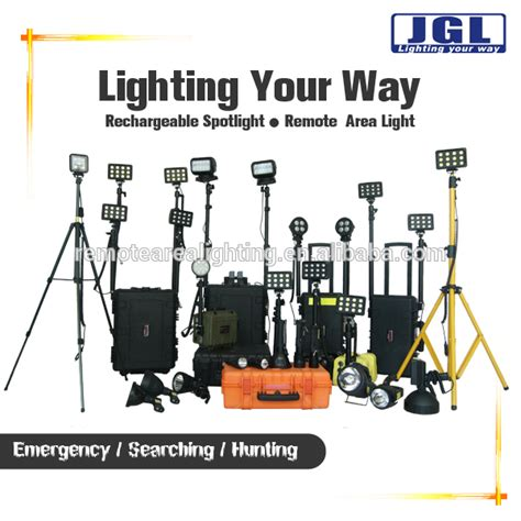 portable outdoor construction lights 12v battery powered search work light remote outdoor led