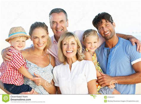 Multi Generation Family Enjoying Beach Holiday Stock Image Image 27201077 Genealogy Stock Photos Royalty Free