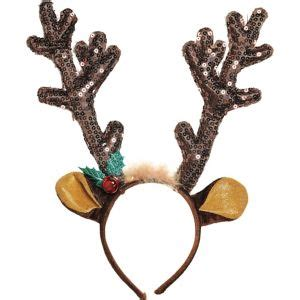 how to get raindear anters white sequin reindeer antlers headband city