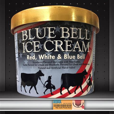 red white blue bell ice cream  junk food aisle