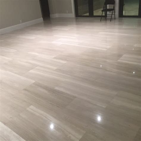 Wooden Gray Polished Limestone Tiles 18x36   Natural Stone