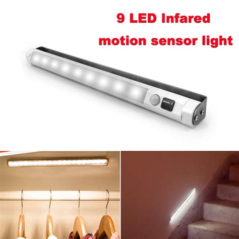 motion sensor hallway light vibelite motion sensor 9 led light bar battery operated