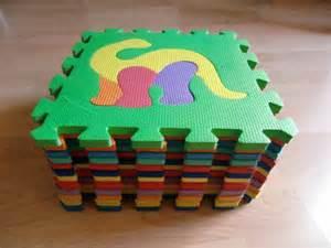moosgummi puzzle teppich puzzlematte spielmatte braun beige 10 tlg spielteppich