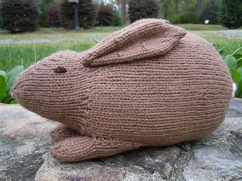 knitted rabbit knitting with karma lo cal easter bunny free pattern
