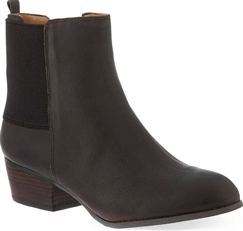 nine west jerryrig leather ankle boots in brown lyst
