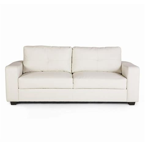 white leather settee coaster jasmine 502711 white leather sofa steal a sofa