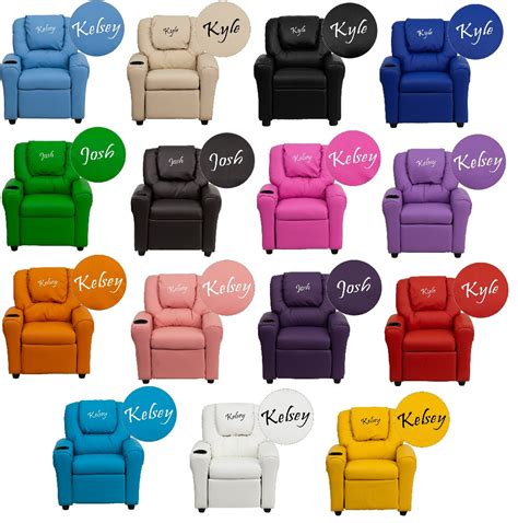 Personalized Recliners by Personalized Recliner Arm Chairs Embroidered Chairs