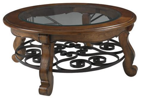 hammary siena coffee table with glass top