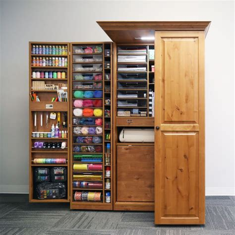 fold out craft cabinet storage cabinets stunning craft storage armoire craft
