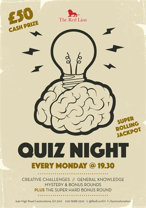 quiz night the red lion