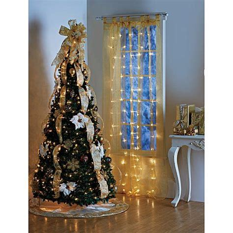 pre lit curtain panel improvements pre lit led sheer curtain panel christmas