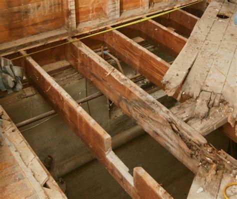 bathroom floor joists how to repair a butchered floor joist fine homebuilding