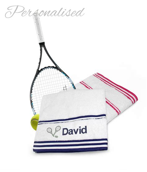 Sport Towel personalised sport towels tennis logo withcongratulations