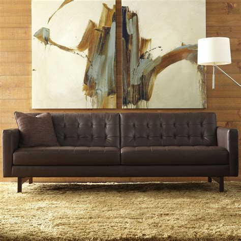 american leather parker sofa price american leather parker casual sofa with buttonless tufted