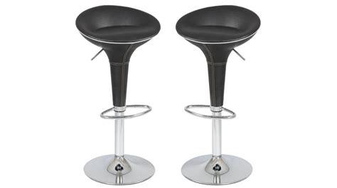 Tabouret Bar Cuir Noir by Tabouret De Bar Design En Simili Cuir Noir Tabouret