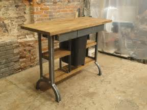 Industrial Kitchen Island by Hand Made Modern Industrial Kitchen Island Console Table
