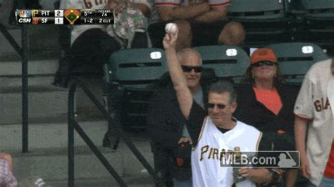 pirates fan tosses foul ball to young girl youtube cool guy pirates fan goes out of his way to make a little